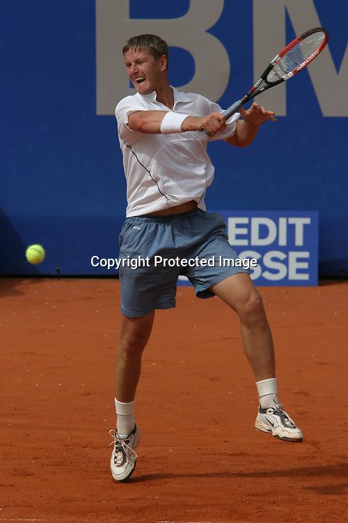 Sport, Tennis, ATP Turnier, BMW Open in Muenchen,<br /> Yevgeny Kafelnikov (RUS), 30.04.2003,<br /> Foto: Juergen Hasenkopf
