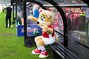 Salford City mascot before the EFL Sky Bet League 2 match between Salford City and Port Vale at Moor Lane, Salford, United Kingdom on 17 August 2019.