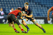 Jamie Ritchie (#6) of Edinburgh Rugby charges with the ball during the Guinness Pro 14 2018_19 rugby match between Edinburgh Rugby and Isuzu Southern Kings at the BT Murrayfield Stadium, Edinburgh, Scotland on 5 January 2019.