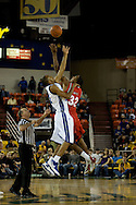 November 29, 2008: Hampton's Chad Easterling (22) and San Diego State's Billy White (32) jump for the tip off in the championship game of the 2008 Great Alaska Shootout at the Sullivan Arena.  San Diego State would keep Hampton scoreless for most of the first 7 minutes of the game and never look back on the Aztec's run to the win Saturday night.