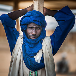 A Malian refugee at the Goudebou camp, Burkina Faso on 6 May 2014.