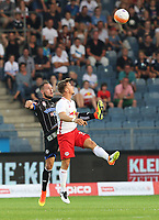 GRAZ,AUSTRIA,23.JUL.16 - SOCCER - tipico Bundesliga, SK Sturm Graz vs Red Bull Salzburg. Image shows Lukas Spendlhofer (Sturm) and Fredrik Gulbrandsen (RBS). <br /> Norway only