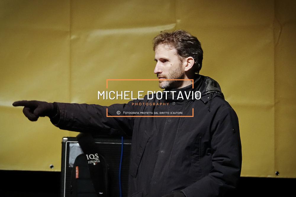 Davide Casaleggio in piazza San Carlo a Torino, nel corso della manifestazione di chiusura della campagna elettorale del M5S per il Referendum Costituzionale. 2 dicembre 2016
