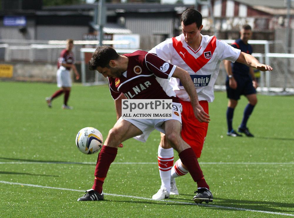 Martin Grehan (l) and Marc Fitzpatrick (r) clash for the ball (c) CRAIG JARDINE | SportPix.Org.uk