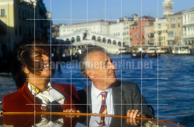 Pianist Maurizio Pollini and his wife Marilisa, Venice 1999 / Il pianista Maurizio Pollini e sua moglie Marilisa, Venezia 1999 - © Marcello Mencarini