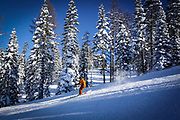 Skiing Brundage during winter McCall, Idaho.