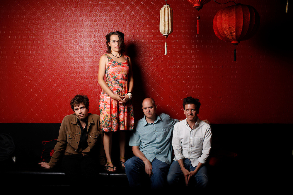 Superchunk; Jon Wurster, Laura Ballance,  Jim Wilbur and Mac McCaughan at Lantern in Chapel Hill, N.C.