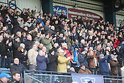 Fans in the Bobby Cox stand celebrate Peter MacDonald's goal - Dundee v Greenock Morton, SPFL Championship at <br /> Dens Park<br /> <br />  - &copy; David Young - www.davidyoungphoto.co.uk - email: davidyoungphoto@gmail.com