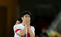 Fotball<br /> Asia Cup / Asiamesterskapet<br /> 22.01.2015<br /> Australia v Kina 2:0<br /> Kvartfinale<br /> Foto: imago/Digitalsport<br /> NORWAY ONLY<br /> <br /> China s Ji Xiang reacts during the quarterfinal match at the 2015 AFC Asian Cup in Brisbane, Australia, Jan. 22, 2015. China lost the match 0-2.