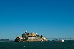 Ferry heading towards Alcatraz Island, San Francisco