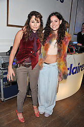 Left to right, actress FRANCES RUFFELLE and her daughter singer ELIZA DOOLITTLE at Wonderful Winter Wonderland a party to celebrate the launch of Claire's partnership with UNICEF held at 33 Portland Place, London on 14th March 2012.