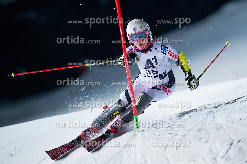 Ekaterina Tkachenko (RUS) during the 7th Ladies' Slalom of Audi FIS Ski World Cup 2016/17, on January 10, 2017 at the Hermann Maier Weltcupstrecke in Flachau, Austria. Photo by Martin Metelko / Sportida