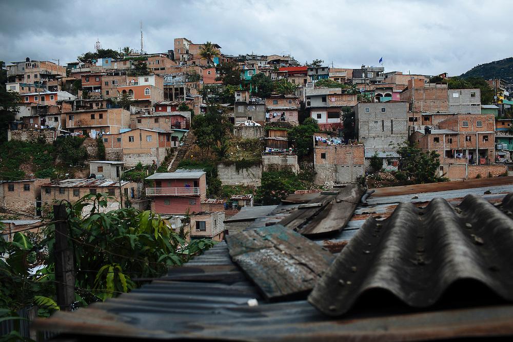 TEGUCIGALPA, HONDURAS - NOVEMBER 15, 2013: View of Comayagüela where Felipe Nery Aguilar Rodríguez (71) and Gladys Ondina Aguilar Rodríguez (40), were murdered and two children were injured. CREDIT: Rodrigo Cruz for The New York Times