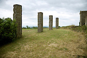 old columns in rural landscape