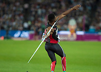 Athletics - 2017 IAAF London World Athletics Championships - Day Nine, Evening Session<br /> <br /> Mens Javelin Final<br /> <br /> Keshorn Walcott (Trinidad and Tobago) launches the javelin at the London Stadium<br /> <br /> COLORSPORT/DANIEL BEARHAM