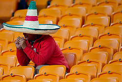 Disappointed fan of Mexico after the 2010 FIFA World Cup South Africa Round of Sixteen match between Argentina and Mexico at Soccer City Stadium on June 27, 2010 in Johannesburg, South Africa. Argentina defeated Mexico 3-1 and qualified for quarterfinals. (Photo by Vid Ponikvar / Sportida)