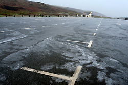 © Licensed to London News Pictures. 13/01/2020. Newgale, Pembrokeshire, Wales, UK.Temperatures dropped dramatically from 6 degC to 0.5 deg C within minutes during a hailstorm at Newgale in Pembrokeshire, Wales, UK. as Storm Brendan hits the South West coastline of  Wales, UK. Photo credit: Graham M. Lawrence/LNP,