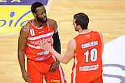 Dominique Johnson Daniele Cavaliero<br /> Enel New Basket Brindisi - Openjobmetis Pallacanestro Varese<br /> Lega Basket Serie A 2016/2017<br /> Brindisi 12/02/2017<br /> Foto Ciamillo-Castoria