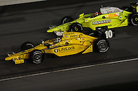 Dario Franchitti, Ed Carpenter, Peak Antifreeze and Motor Oil Indy 300, Chicagoland Speedway, Joliet, IL USA