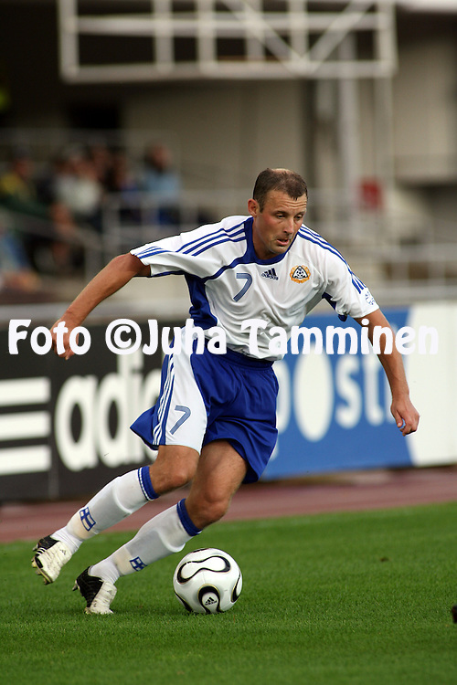 16.08.2006, Olympic Stadium, Helsinki, Finland..Friendly Internatinal Match, Finland v Northern Ireland..Mika Nurmela - Finland.©Juha Tamminen.....ARK:k