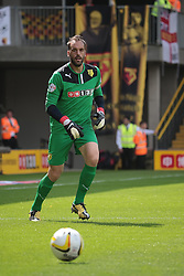 Watford's Manuel Almunia  - Photo mandatory by-line: Nigel Pitts-Drake/JMP - Tel: Mobile: 07966 386802 25/08/2013 - SPORT - FOOTBALL -Vicarage Road Stadium - Watford -  Watford v Nottingham Forest - Sky Bet Championship