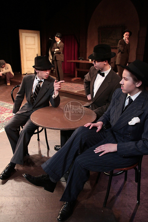 The Center School drama class production of Seven Keys to Baldpate.