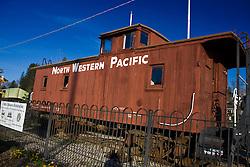 North Western Pacific railroad caboose, Colfax, California, United States of America