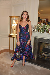 Genevieve Gaunt at the reopening of the Cartier Boutique, New Bond Street, London, England. 31 January 2019. <br /> <br /> ***For fees please contact us prior to publication***