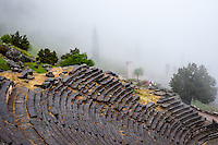 Delphi, Greece. In Greek mythology the site of the Delphic oracle. The ancient theatre.