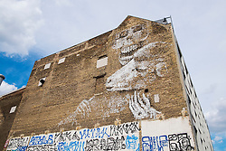 Street art  on  building in Berlin Germany