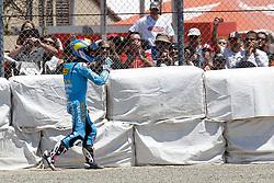 25.07.2010, Laguna Seca, USA, MotoGP, Red Bull U.S. Grand Prix  2010, race, im Bild  crash of Alvaro Bautista - Rizla Suzuki team. EXPA Pictures © 2010, PhotoCredit: EXPA/ InsideFoto/ Semedia +++++ ATTENTION - FOR AUSTRIA AND SLOVENIA CLIENT ONLY +++++ / SPORTIDA PHOTO AGENCY