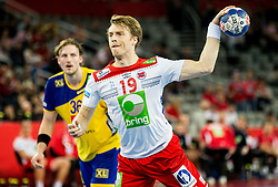 Kristian Bjoernsen of Norway during handball match between National teams of Sweden and Norway on Day 7 in Main Round of Men's EHF EURO 2018, on January 24, 2018 in Arena Zagreb, Zagreb, Croatia.  Photo by Vid Ponikvar / Sportida