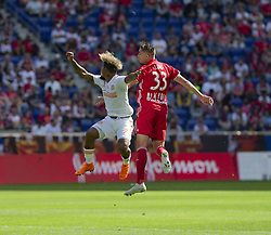September 30, 2018 - Harrison, New Jersey, United States - Aaron Long (33) of Red Bulls & Josef Martinez (7) of Atlanta United FC fight for ball during regular MLS game at Red Bull Arena Red Bulls won 2 - 0  (Credit Image: © Lev Radin/Pacific Press via ZUMA Wire)