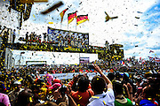 #2 Audi Sport Joest driven by Fässler, Tréluyer and Lotterer wins the 24 hours of Le Mans, June 16-17, 2012.