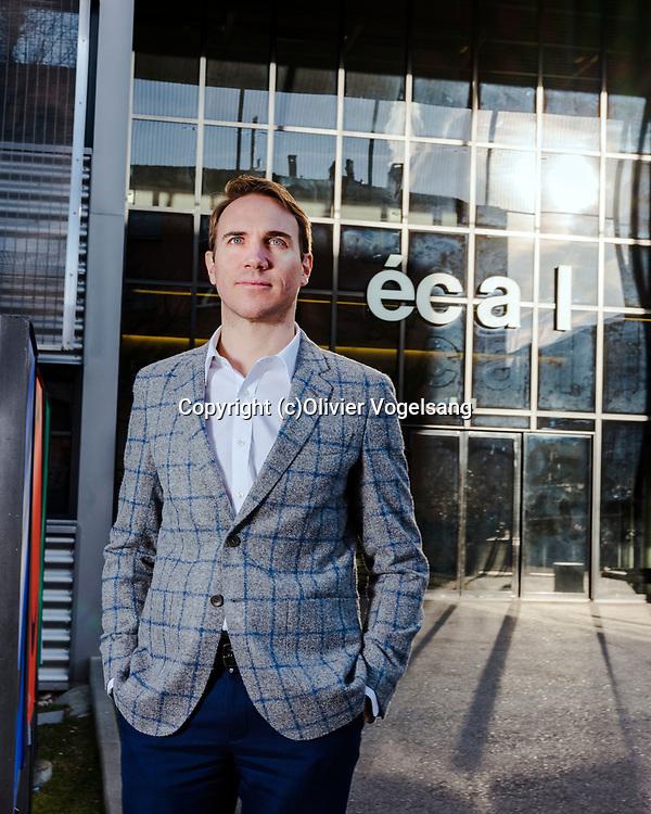 Renens, janvier 2018. Alexis Georgacopoulos, directeur de l'ECAL. © Olivier Vogelsang