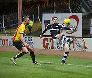 Dundee&rsquo;s Craig Wighton and Partick Thistle's Christie Elliot - Dundee v Partick Thistle in the Ladbrokes Scottish Premiership at Dens Park, Dundee.Photo: David Young<br />
