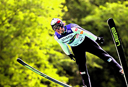 Primoz Peterka  during Ski Jumping Summer Continental Cup in Kranj and last jump of Primoz Peterka's career, one of the best ski jumpers in history, on July 2, 2011, in Kranj, Slovenia. (Photo by Vid Ponikvar / Sportida)