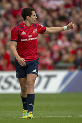 October 20, 2018 - Limerick, Ireland - Joey Carbery of Munster during the Heineken Champions Cup match between Munster Rugby and Gloucester Rugby at Thomond Park in Limerick, Ireland on October 20, 2018  (Credit Image: © Andrew Surma/NurPhoto via ZUMA Press)