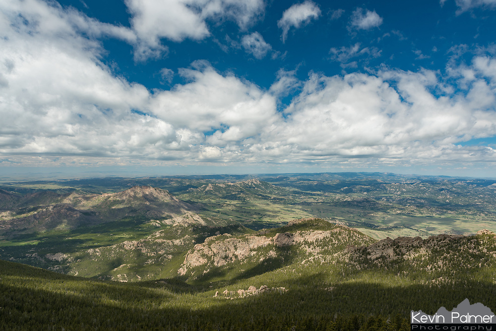 Laramie Peak is the first mountain I saw when I moved to Wyoming and ever since then I've wanted to climb it. The views were amazing from the 10,276' summit, with 4 different states visible. It was mostly cloudy while I was up there, but the clouds began to break before I left at noon.