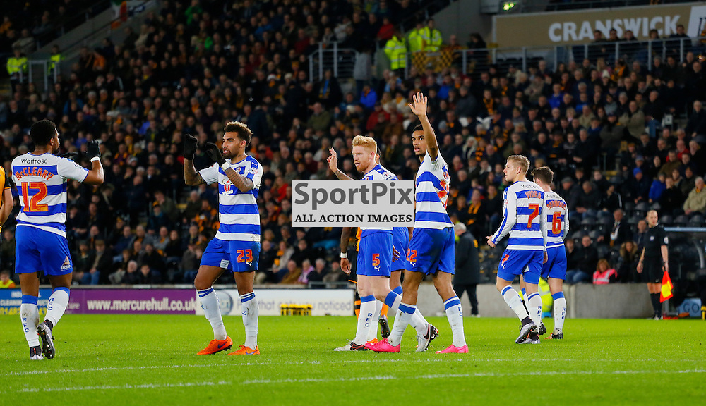 Nick Blackman celebrates the opening goal during Hull City v Reading, SkyBet Championship, Wednesday 16th December 2015, KC Stadium, Hull