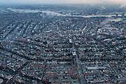 Nederland, Noord-Holland, Amsterdam, 16-01-2014;<br /> Overzicht Amsterdam grachtengordel, centrum, Noord en het IJ (boven in beeld). Vijzelgracht (loodrecht midden beneden).<br /> Overview Amsterdam: ring of canals, center, North and IJ (water, top picture).<br /> luchtfoto (toeslag op standard tarieven);<br /> aerial photo (additional fee required);<br /> copyright foto/photo Siebe Swart