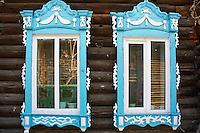 Russie, Fédération de Tomsk, Tomsk, architecture de bois du XIXè siècle // Russia, Tomsk Federation, Tomsk, wooden architecture