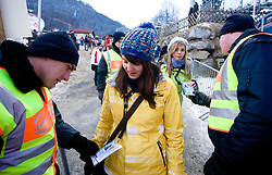 Card checking during Qualification round of the FIS Ski Jumping World Cup event of the 58th Four Hills ski jumping tournament, on January 5, 2010 in Bischofshofen, Austria. (Photo by Vid Ponikvar / Sportida)