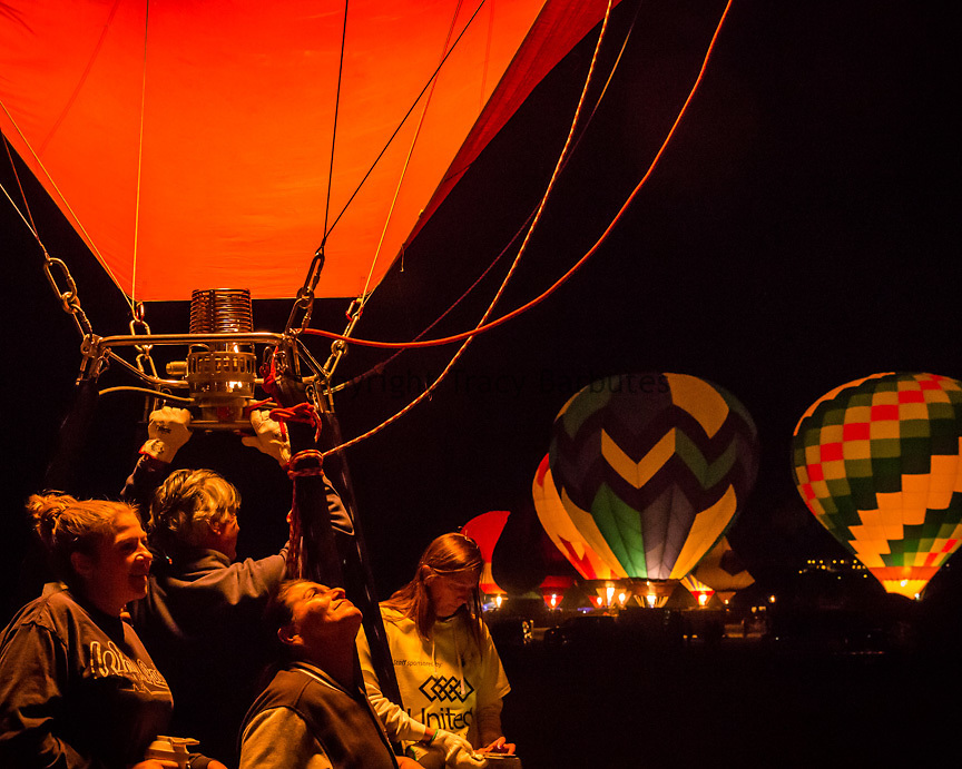ADRIAN HELD and his Cupid's Heart crew participate in the Super Glow Show during the 36th Great Reno Balloon Race on Friday, September 8, 2017, in Reno, Nevada. The event runs through Sunday, September 10 with approximately 100 balloons participating. <br /> <br /> The Great Reno Balloon Race is the largest free hot-air ballooning event in the world with an average of 120,000 spectators in attendance. The balloons launch from Rancho San Rafael Regional Park, just a few miles north of downtown Reno.<br /> <br /> Mr. Held is from Zurich, Switzerland, and travels to hot air balloon events in various countries around the world.