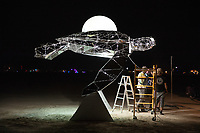 Cosmic Voyager by: Martin Taylor and The Chromaforms Collective from: San Francisco, CA year: 2018 My Burning Man 2018 Photos:<br />