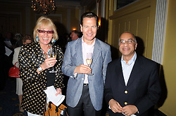 Left to right, CAROL THATCHER, MICHAEL PORTILLO and MR RUMI VERJEE at a party to celebrate the publication of Gemma Levine's book Mayfair, held at Claridge's, Brook Street, London on 16th June 2008.<br />