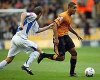 Photo: Rich Eaton.<br /> <br /> Wolverhampton Wanderers v Sheffield Wednesday. Coca Cola Championship. 28/10/2006. Leon Clarke who scored Wolvs 2 goals
