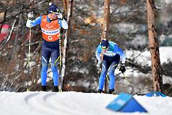 RESHETYNSKYI Iaroslav UKR B2 Guide: STEFURAK Nazar competing in the ParaSkiDeFond, Para Nordic 10km during the PyeongChang2018 Winter Paralympic Games, South Korea.