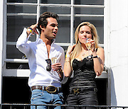11.JUNE.2011. LONDON<br /> <br /> MARK-FRANCIS AND AGNE MOTIEJUNAITE FROM THE TV REALITY SERIES MADE IN CHELSEA GET UP CLOSE AND PERSONAL AT A CHAMPAGNE PARTY AT NOZOMI IN KNIGHTSBRIDGE. THE PAIR POURED DRINKS FOR EACH OTHER AND FED EACH OTHER STRAWBERRIES.<br /> <br /> BYLINE: EDBIMAGEARCHIVE.COM<br /> <br /> *THIS IMAGE IS STRICTLY FOR UK NEWSPAPERS AND MAGAZINES ONLY*<br /> *FOR WORLD WIDE SALES AND WEB USE PLEASE CONTACT EDBIMAGEARCHIVE - 0208 954 5968*