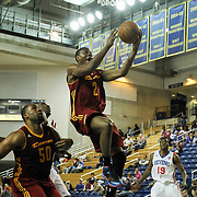 Canton Charge Guard Ben Uzoh (2) drives towards the basket in the second half of a NBA D-league regular season basketball game between the Delaware 87ers (76ers) and The Canton Charge (Cleveland Cavaliers) Friday, Jan 24, 2014 at The Bob Carpenter Sports Convocation Center, Newark, DEL.